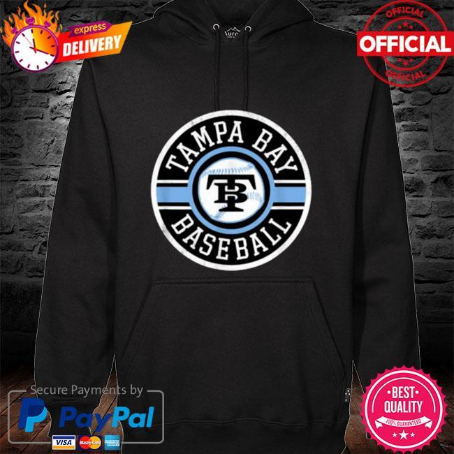Tampa Bay Baseball Retro Badge Ray Shirt hoodie black