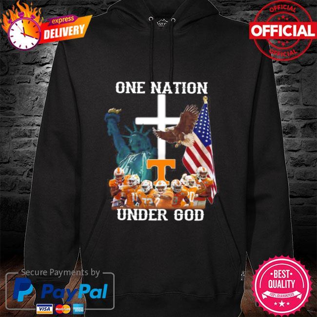 Tennessee Volunteers one nation under god hoodie black