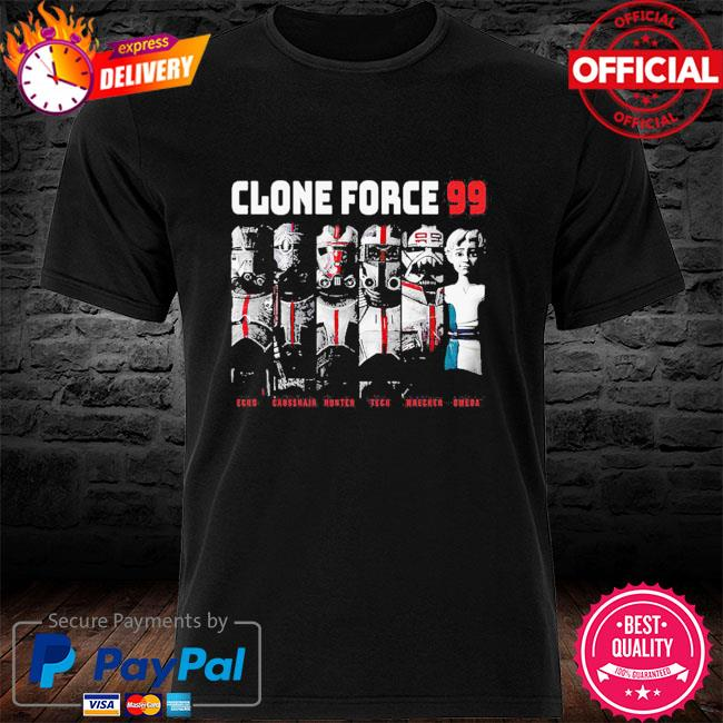 The Bad Batch Clone Force 99 Group Hot Topic Exclusive shirt